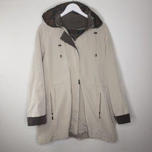 Nordstrom Braefair Tan and Plaid Rain Coat